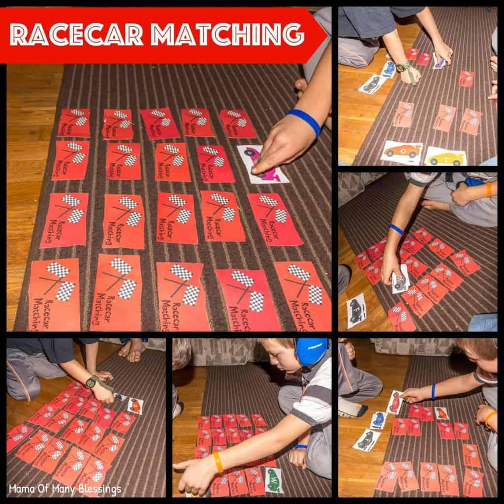 Racecar-Alphabet-Matching-Game