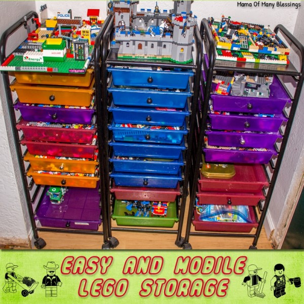Absolutely wonderful, unique, and mobile Lego storage idea