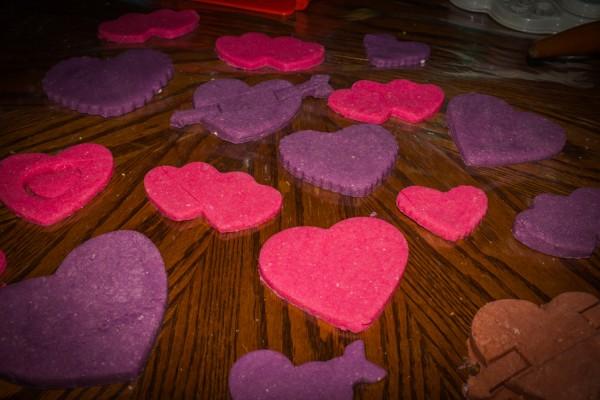 Valentines day playdough