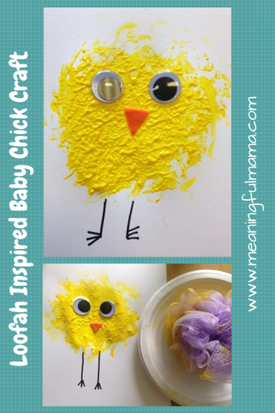 Loofah-Inspired-Baby-Chick-Craft