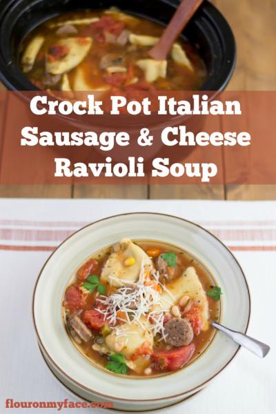 Crock-Pot-Italian-Sausage-Ravioli-Soup-recipes-flouronmyface