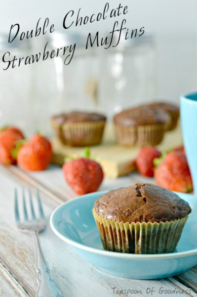 Double-Chocolate-Strawberry-Muffins--Healthy-breakfast-ideas