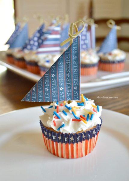 Sailboat-Cupcakes-for-Memorial-Day-Patriotic Recipe