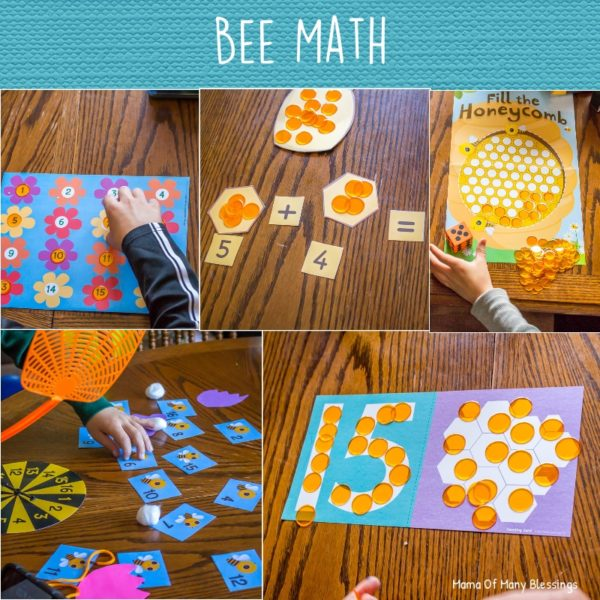 Butterfly and Bee Math Ideas