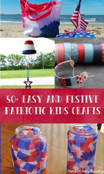 50+ Easy and Festive Patriotic Kids Craft Ideas Collage 2
