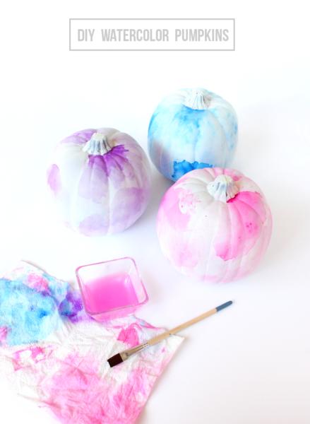DIY-watercolor-pumpkins-kids-craft-ideas-for-fall