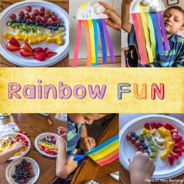 Fun Rainbow Healthy Snack Idea For Kids