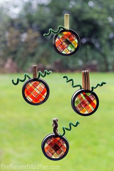 Scrap-Ribbon-Pumpkin-Suncatchers—kids-craft-ideas-for-fall
