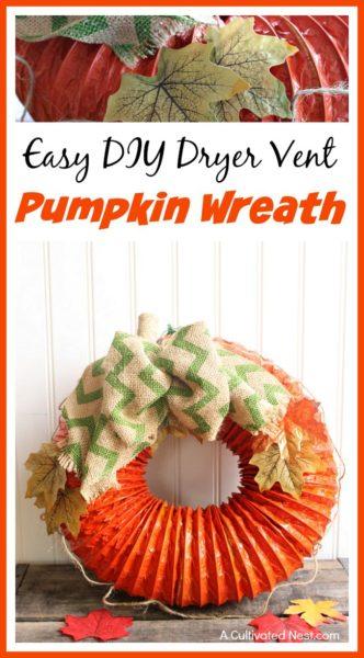 easy-diy-dryer-vent-pumpkin-wreath-kids-craft-ideas-for-fall