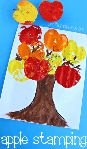 fall-tree-craft-using-apples-as-stamps-kids-craft-ideas-for-fall