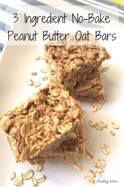 3-ingredient-no-bake-peanut-butter-oatmeal-bars