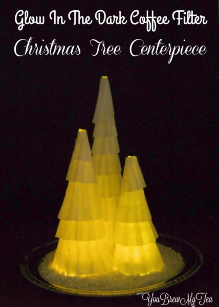coffee-filter-christmas-tree-centerpiece-700x981-Kids-Craft-Ideas-For-Christmas
