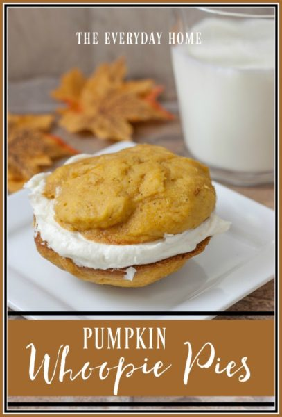 Pumpkin flavored whoopie pie cakes with whipped vanilla cream filling. -Pumpkin-Recipes