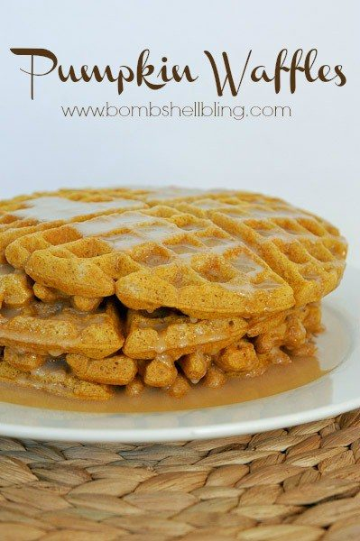 pumpkin-waffles-from-bombshell-bling-Pumpkin-Recipes