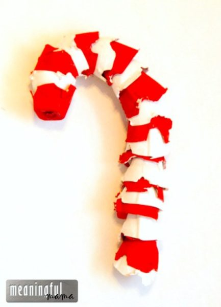 egg-carton-candy-cane-Kids-Craft-Ideas-For-Christmas
