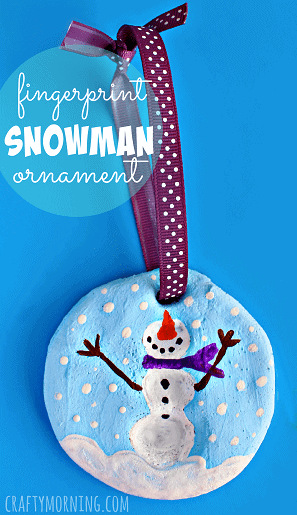 fingerprint-snowman-salt-dough-ornament-craft-for-kids-Kids-Craft-Ideas-For-Christmas