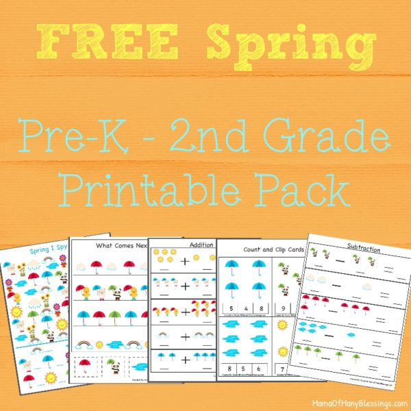 Free Educational Spring Printable Pack 2