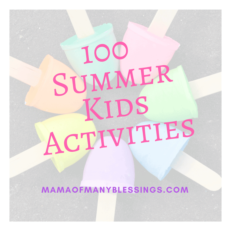 100 Summer Kids Activities 2