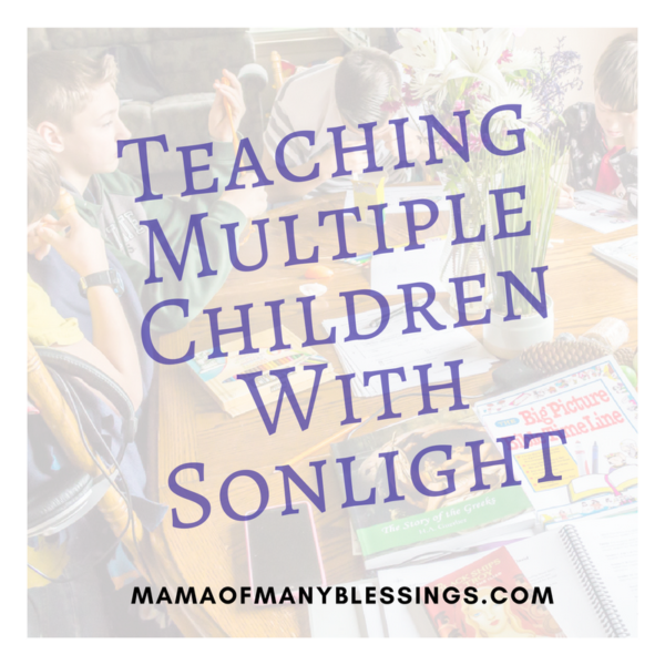 Sonlight With Multiple Children