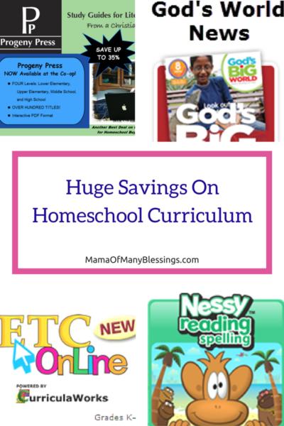 Homeschool Buyers Co-Op Savings 2
