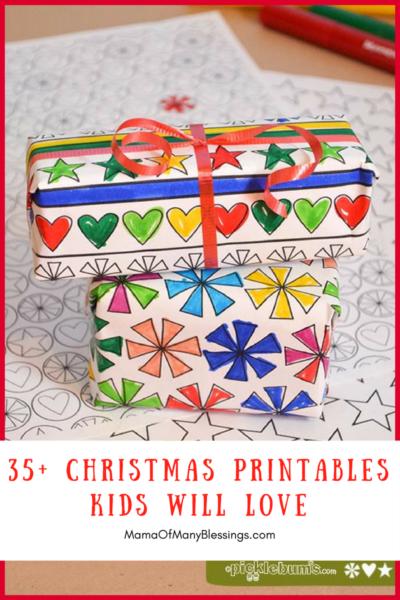 35 Christmas Printables Kids Will LOVE Single Image