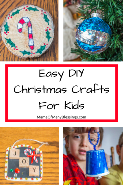 Easy DIY Christmas Crafts For Kids Collage