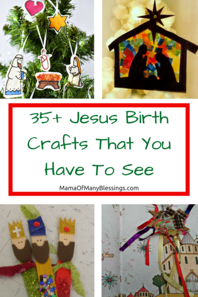 Jesus Birth Crafts For Kids Collage