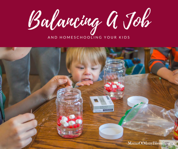 Balancing a job and homeschooling your kids