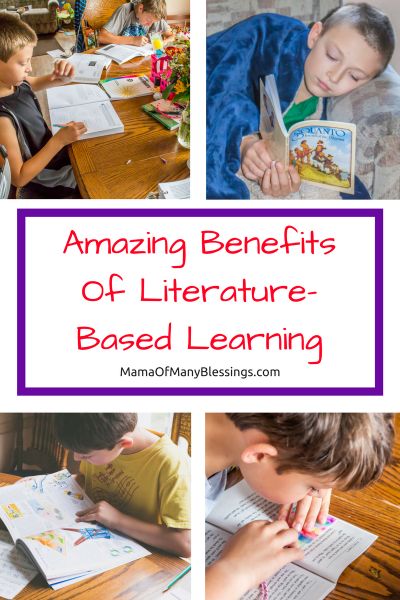 Benefits of literature-based Learning Collage