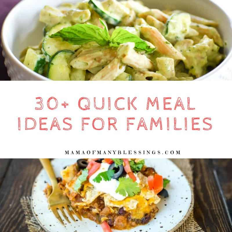 30+ Quick Meal Ideas For Families Square