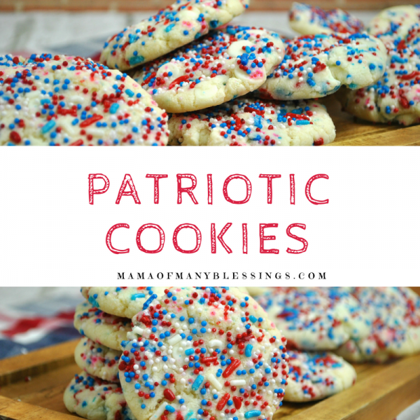 Patriotic Cookies Square