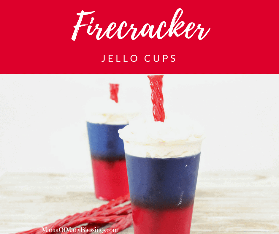 Red While and Blue Desserts - Firecracker Jello Cups Facebook