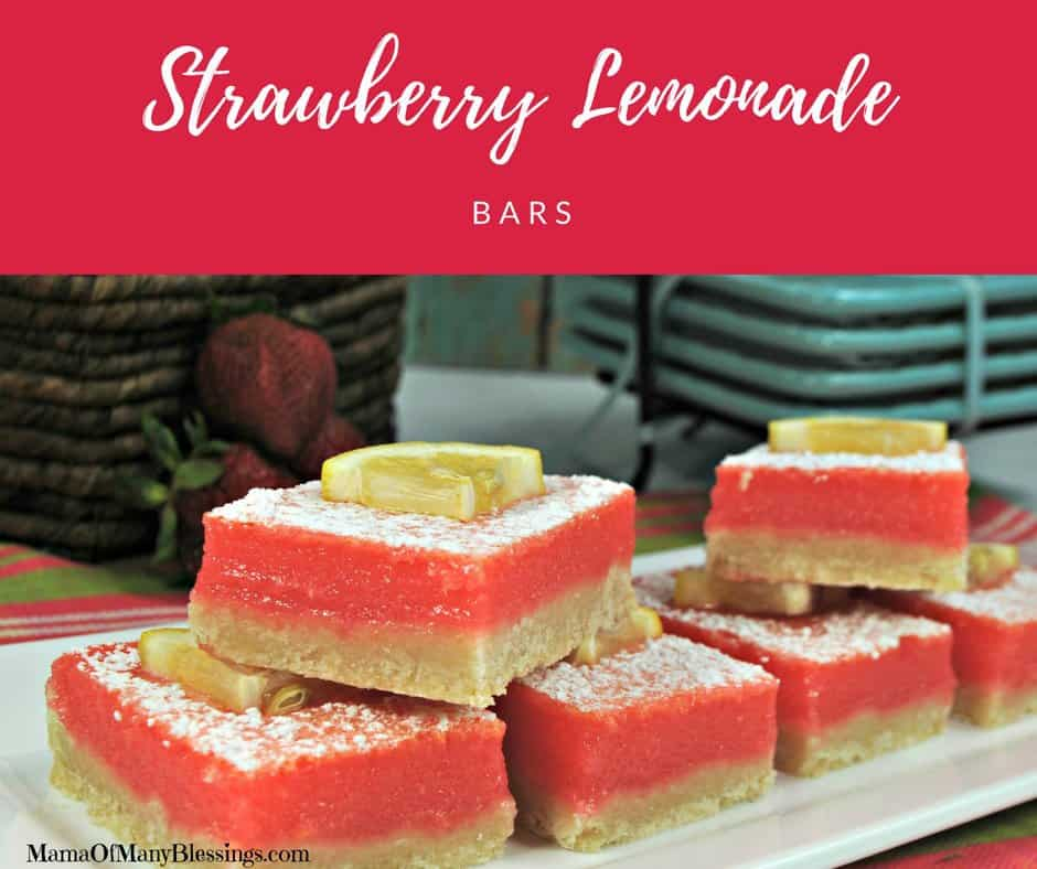 Strawberry Lemonade Bars Facebook