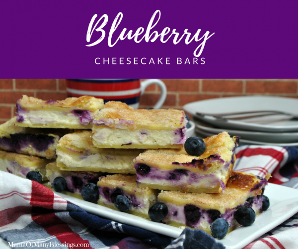 Blueberry Cheesecake Bars Facebook