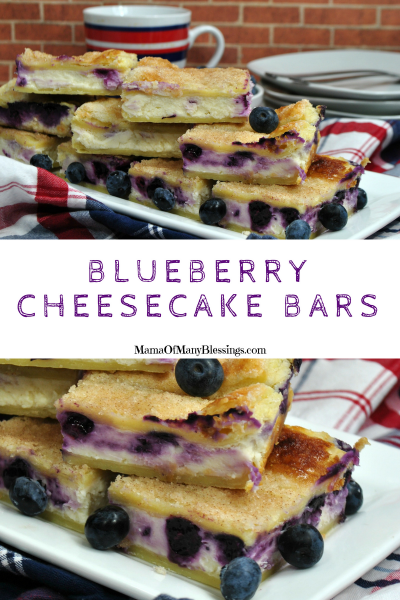 Blueberry Cheesecake Bars Pinterest