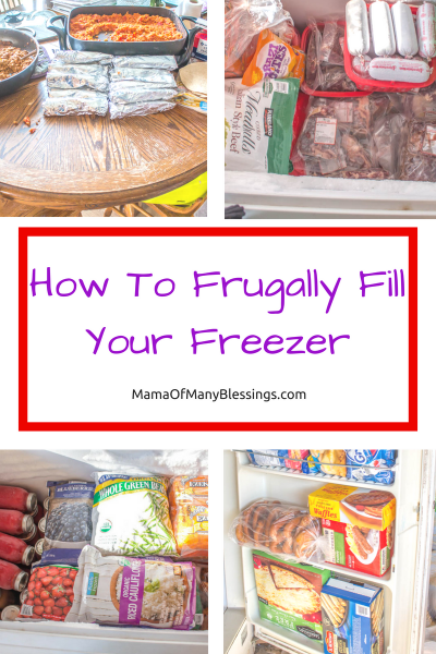 Frugally Filling Your Freezer Collage