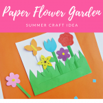 Kids Summer Craft Idea – Paper Flower Garden