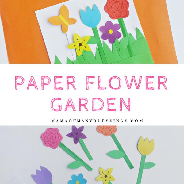 Paper Flower Garden Square