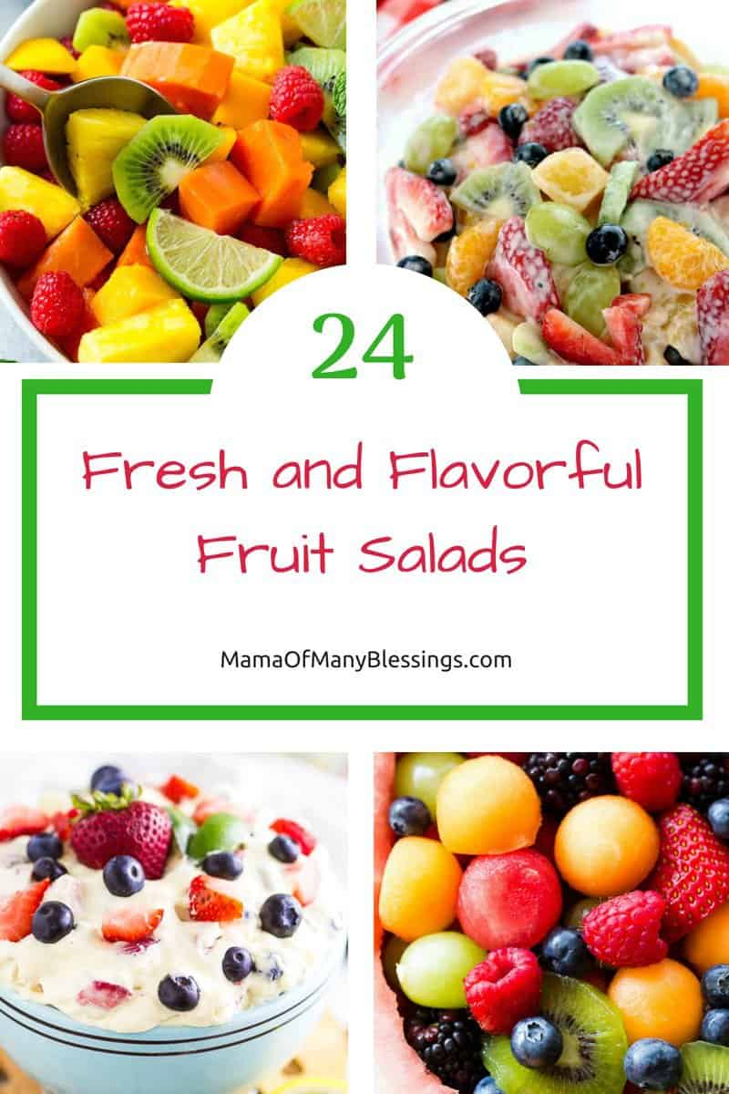 There are hundreds of ways to make fruit salad, I've included an amazing list of 24 different fruit salads certain to hit the everyone's taste buds.