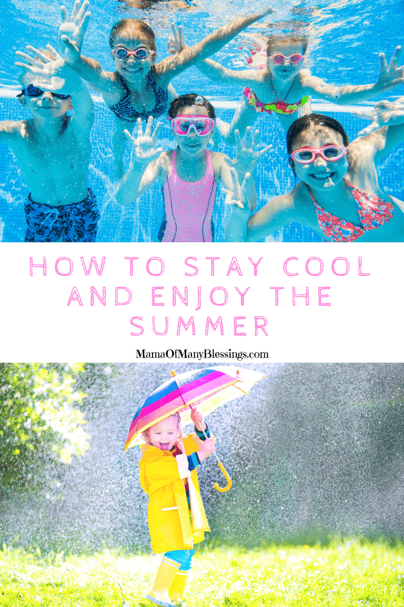 If you are looking for a few fun ways for your kids to stay cool and enjoy being outdoors during the summer months, here are some great suggestions to make it happen! #summer #kidsactivities #staycool