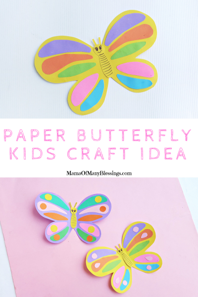 Summer Craft For Kids Paper Butterflies Pinterest