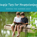 Simple Tips For Homeschooling During The Summer Heat