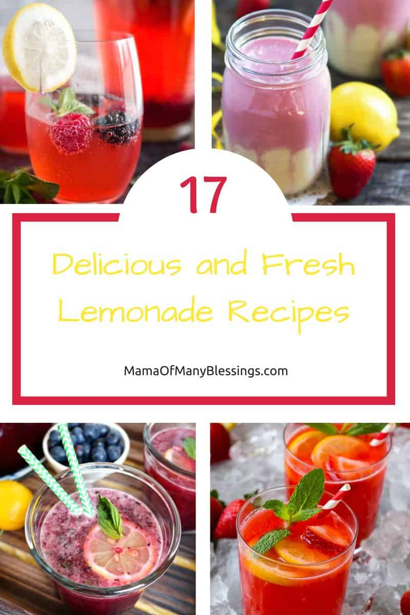 Give your taste buds a true treat with these lemonade recipes! With over 17 different lemonade recipes to choose from, you should be able to drink a different kind of lemonade throughout the remaining summer days!   #lemonade #drink #summerdrinks