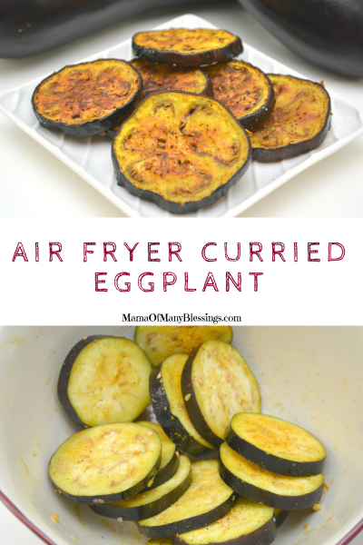 Air Fryer Curried Eggplant Pinterest