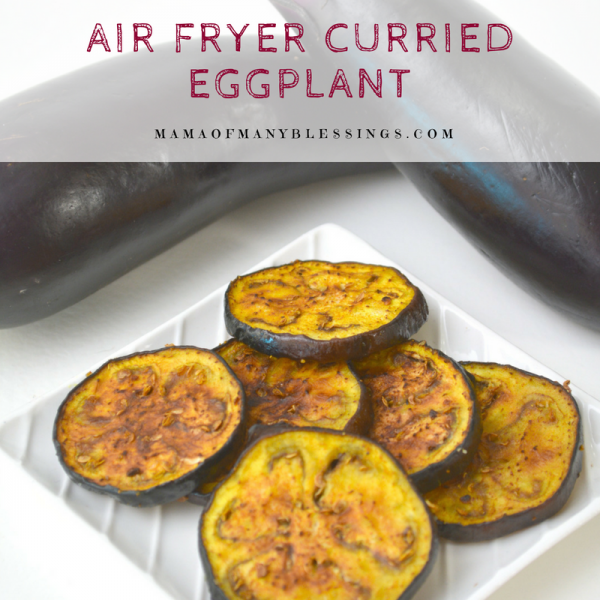 Air Fryer Curried Eggplant Square