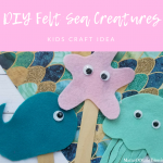 DIY Felt Sea Creatures Craft for Kids
