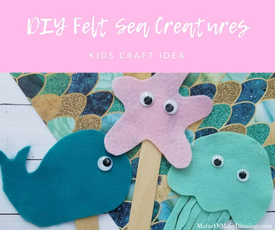 DIY Felt Sea Creatures kids Craft Facebook