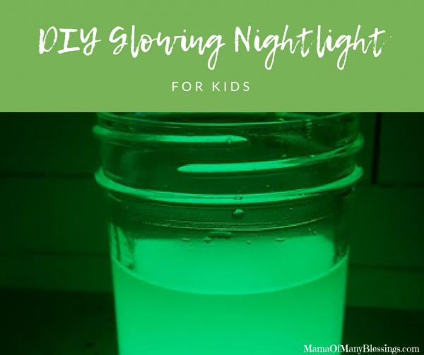 DIY Glowing Nightlight For Kids