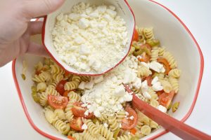 Tomato and Feta Pasta Salad with Sun-dried Tomato Dressing