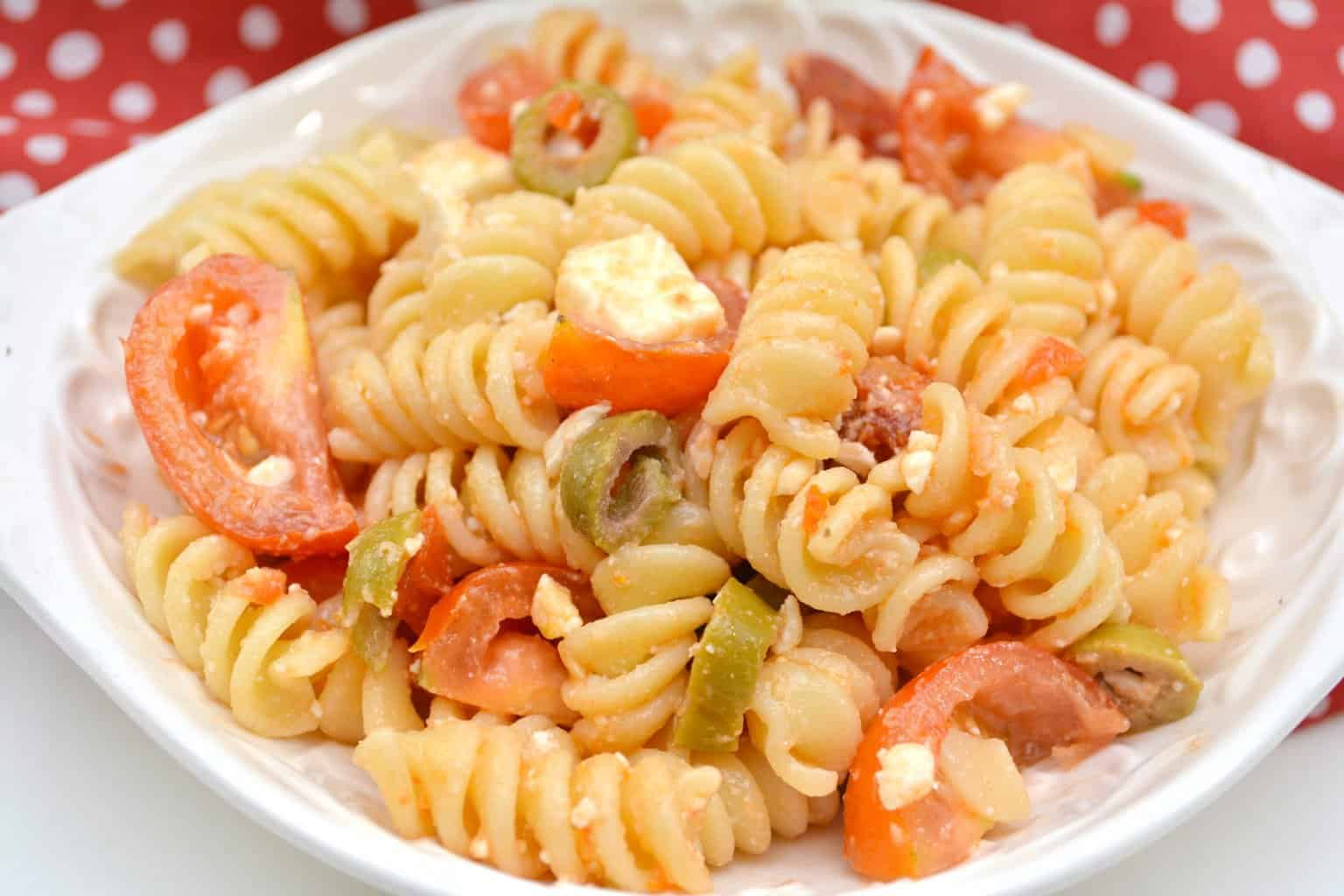 Tomato and Feta Pasta Salad
